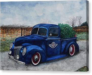 Baxter Truck Canvas Print by Stacey Pilkington-Smith