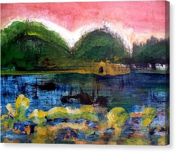 Bay Blues 025 Canvas Print by Aquira Kusume