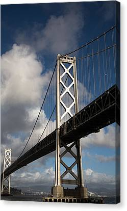 Bay Bridge After The Storm Canvas Print by John Daly