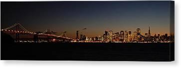 Bay Bridge And City Skyline Canvas Print