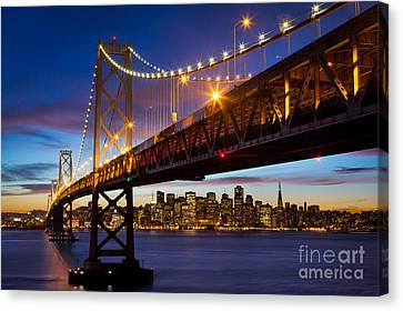 Bay Bridge Canvas Print by Inge Johnsson