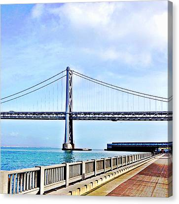 Bay Bridge Canvas Print by Julie Gebhardt