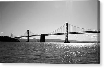 Bay Bridge Canvas Print by Rona Black