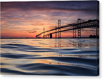 Bay Bridge Silk Canvas Print
