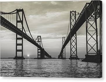 Bay Bridge Strong Canvas Print
