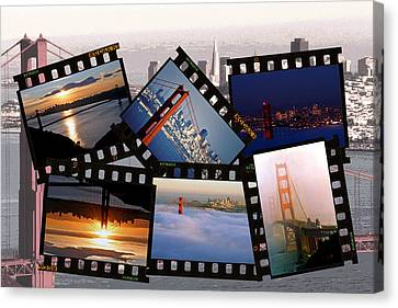 Canvas Print featuring the photograph Golden Gate Collage by Christopher McKenzie