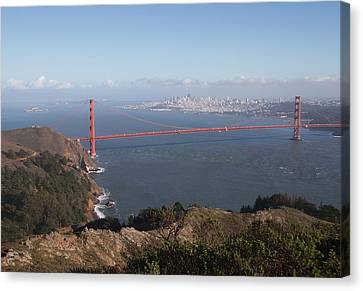 Bay From Marin Canvas Print by Alison Miles