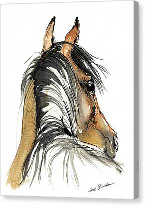 Bay Horse Canvas Print - Bay Horse by Angel  Tarantella