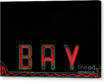 Bay In Neon  Canvas Print by Kris Hiemstra