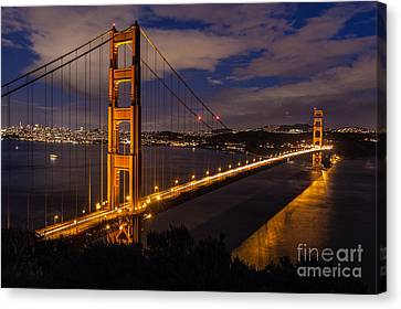 Bay Lights Canvas Print by Charles Garcia