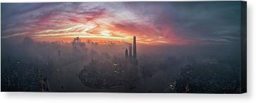 - Occupy Shanghai Canvas Print - Bay Of Colour by Stan Huang