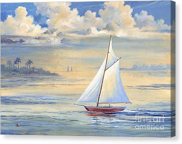 Bay Of Palms Canvas Print by Paul Brent