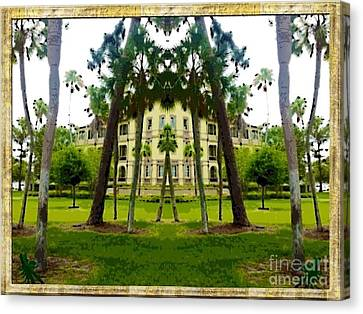 Bay Pines Canvas Print by Caroline Gilmore