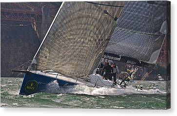Alcatraz Canvas Print - Bay Rolex Regatta by Steven Lapkin