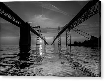 Bay Bridge Strength Canvas Print