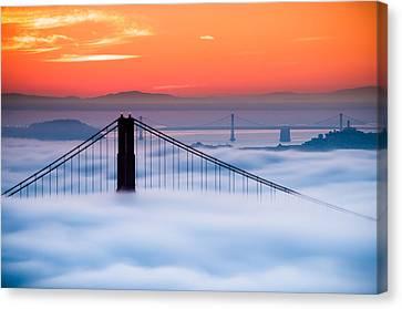 Bay Sunrise Canvas Print
