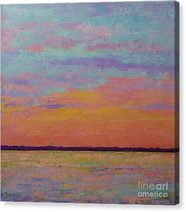 Bay Sunset Canvas Print by Gail Kent
