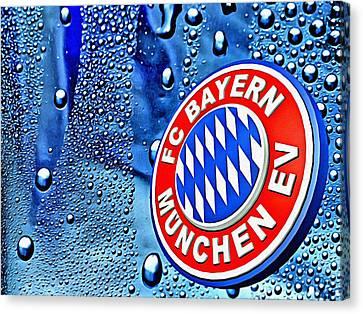 Bayern Football Club Art Canvas Print by Florian Rodarte