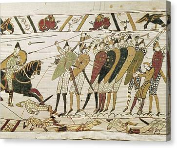 Bayeux Tapestry. 1066-1077. Tapestry Canvas Print by Everett