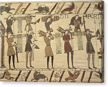 Bayeux Tapestry. 1066-1077. Ttransport Canvas Print by Everett