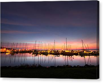 Fall Canvas Print - Bayfield Wisconsin Perfect Calm Harbor by Wayne Moran