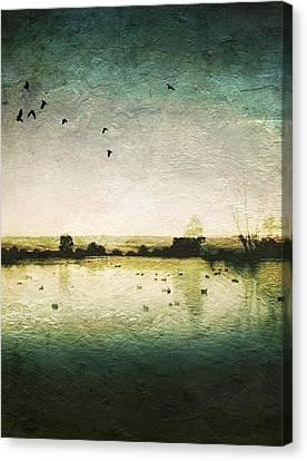 Baylands At Sunset Canvas Print