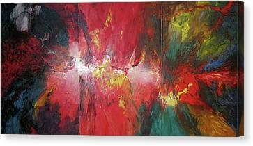 Bayley - Exploding Star Nebuli Canvas Print by Carrie Maurer