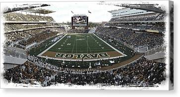Qb Canvas Print - Baylor Gameday No 2 by Stephen Stookey