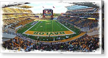 Qb Canvas Print - Baylor Gameday No 3 by Stephen Stookey
