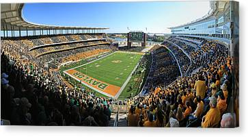Baylor Gameday No 5 Canvas Print by Stephen Stookey