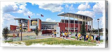 Qb Canvas Print - Baylor Gameday by Stephen Stookey