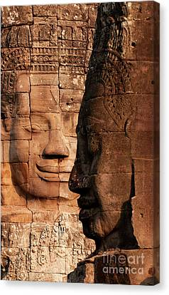 Bayon Faces 02 Canvas Print
