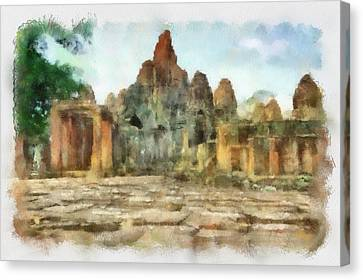 Bayon Temple Canvas Print by Teara Na