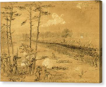 Bayonet Charge Of The 2nd Reg. Col. Hall Canvas Print by Quint Lox