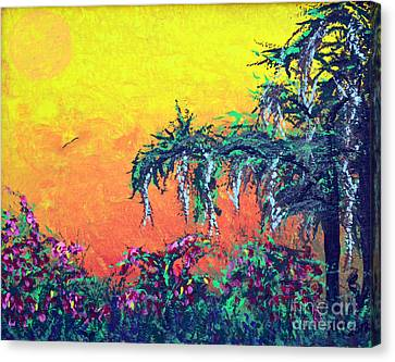 Canvas Print featuring the painting Bayou Honeymoon by Alys Caviness-Gober