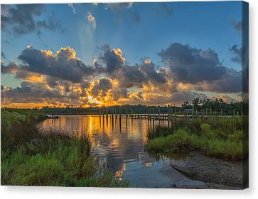 Bayou Sunrise Canvas Print by Brian Wright
