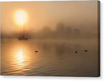 Bayside Sunrise 3 Canvas Print by Lori Deiter