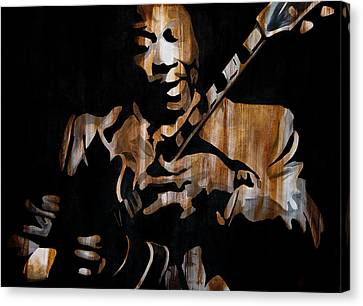 B.b. King Crazy About Lucille Canvas Print by Brad Jensen