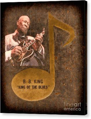 Bb King Note Canvas Print