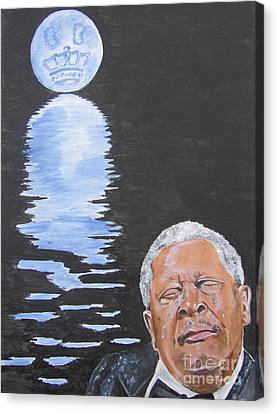 Bb King Painting Canvas Print by Jeepee Aero