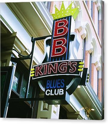 Bb King's Blues Club Canvas Print by Linda Unger