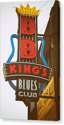 Canvas Print featuring the photograph Bb King's Blues Club by Mary Lee Dereske