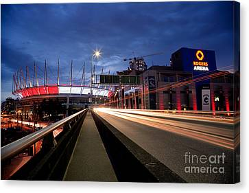 Bc Place Stadium And Rogers Arena Canvas Print by Terry Elniski