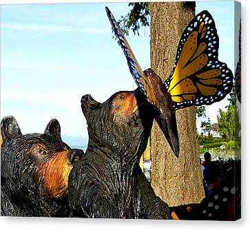 Canvas Print featuring the photograph Be Careful Son by Rhonda McDougall