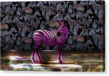 Be Courageous - Be Different - Zebra Canvas Print by EricaMaxine  Price