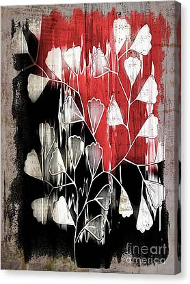 Believe Canvas Print - Be-leaf - Red Black A05bt3a by Variance Collections