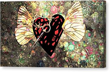 Canvas Print featuring the photograph Be My Valentine by Ally  White