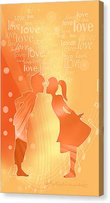 Be My Valentine Canvas Print by Gayle Odsather