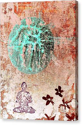 Canvas Print featuring the painting Be The Buddha by Jacqueline McReynolds