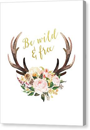 Be Wild And Free Canvas Print by Tara Moss